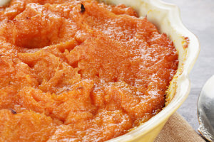 Sweet potato mash with cognac