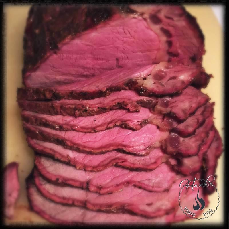 Sliced sirloin roast
