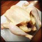 Sköljd och avtorkad kyckling