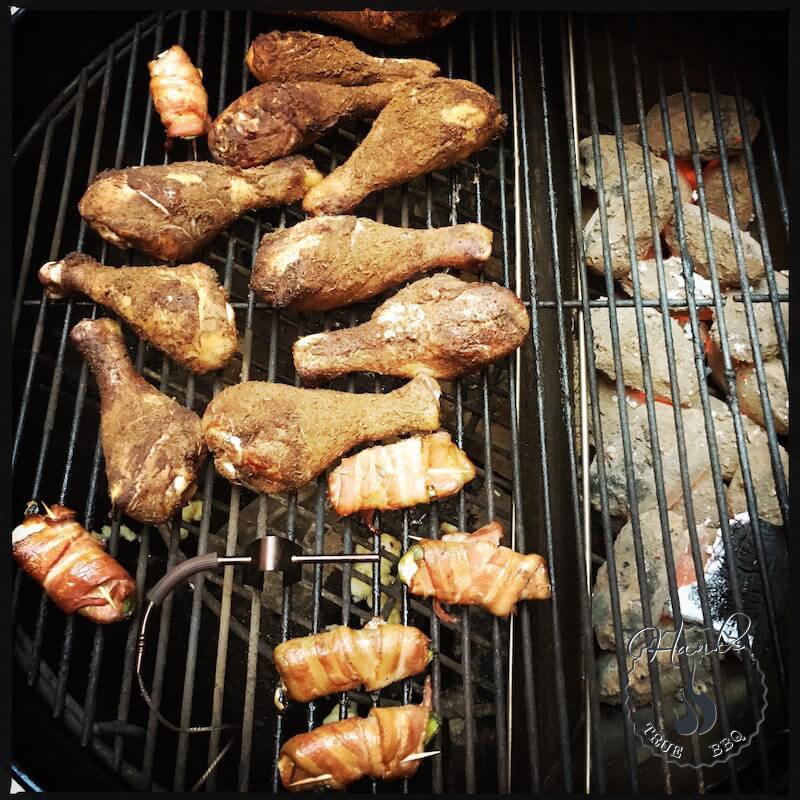 Kycklingklubbor på indirekt värme