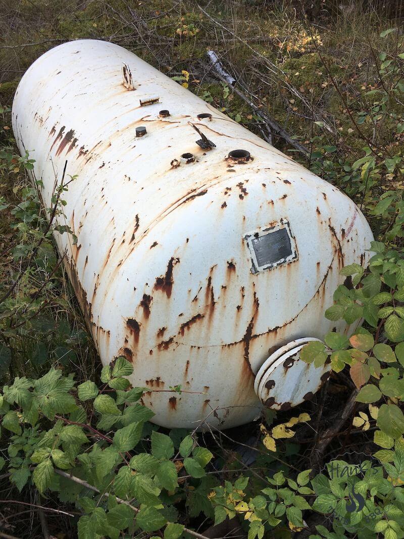 Övergiven tank