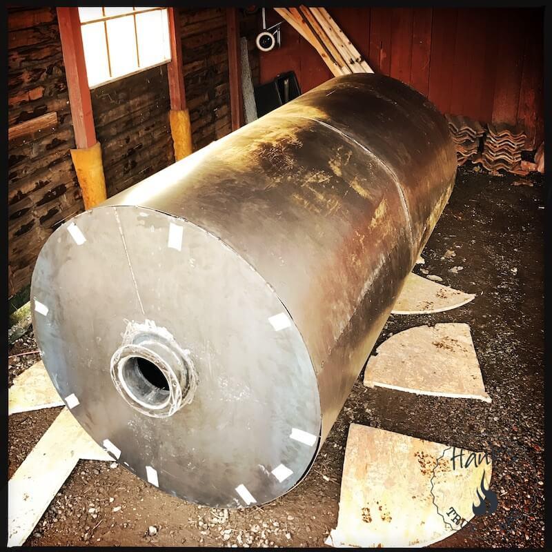 Yttre cylindern svetsas runtom