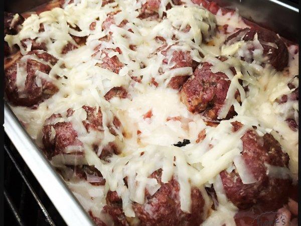 Rökta italienska köttbullar