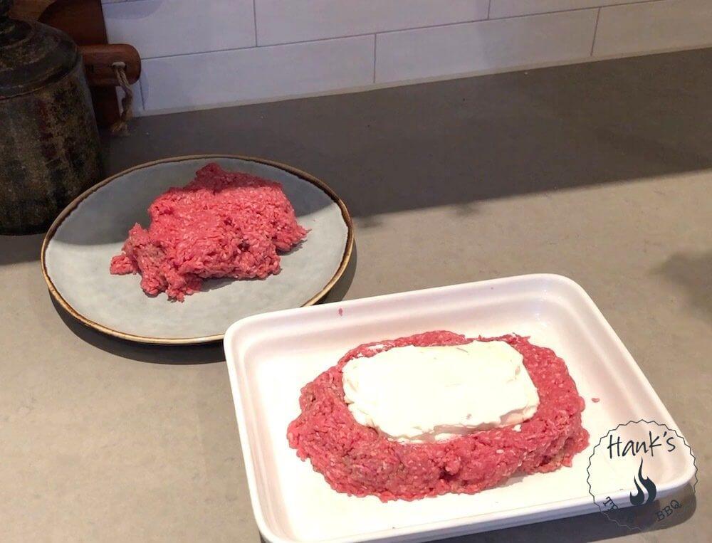 Köttfärslimpa med cream cheese-fyllning