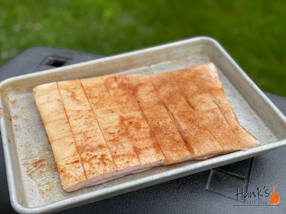 Pork Cracklins med rub och salt