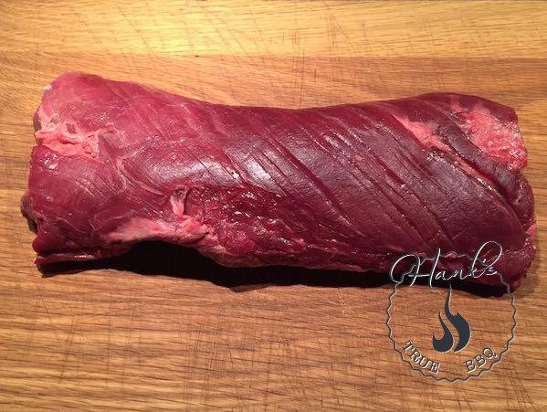 Raw hanger steak