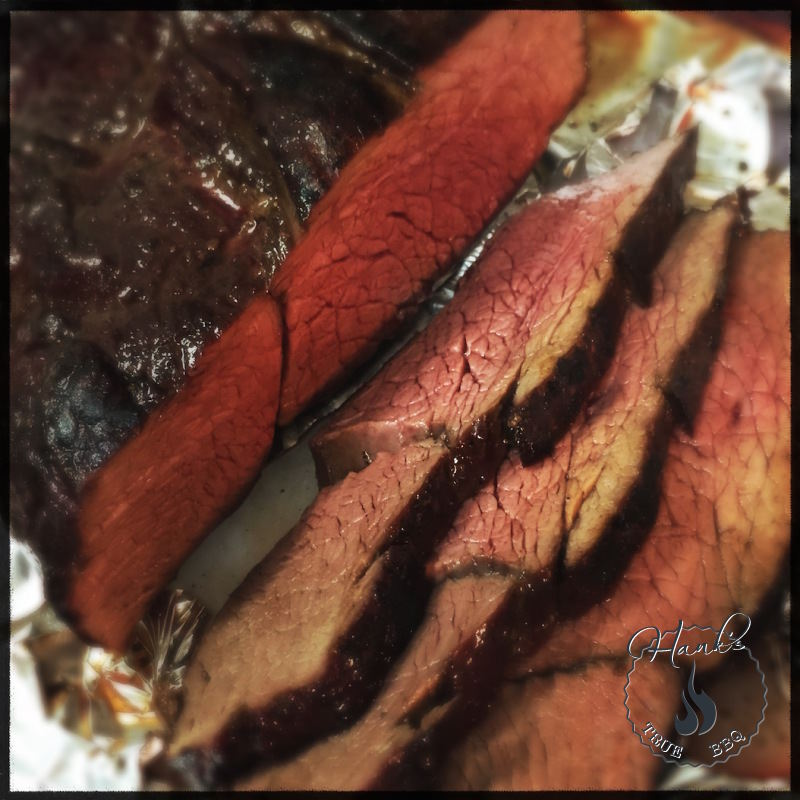 Smoked deer roast
