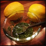 Tarragon and oil