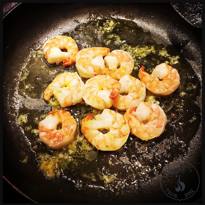 Tiger shrimp with oil/lemon added