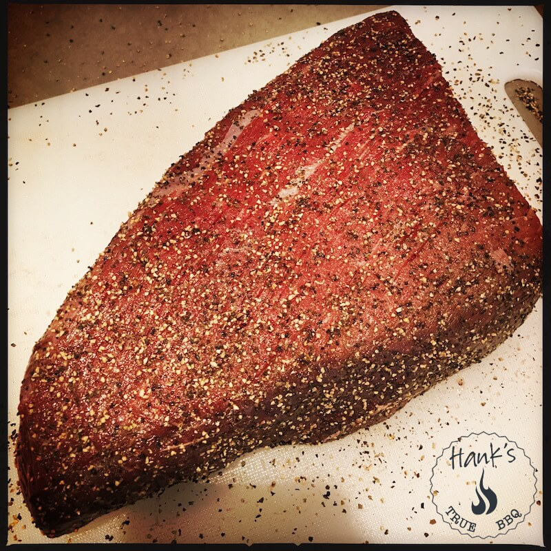 Topside beef with black pepper rub