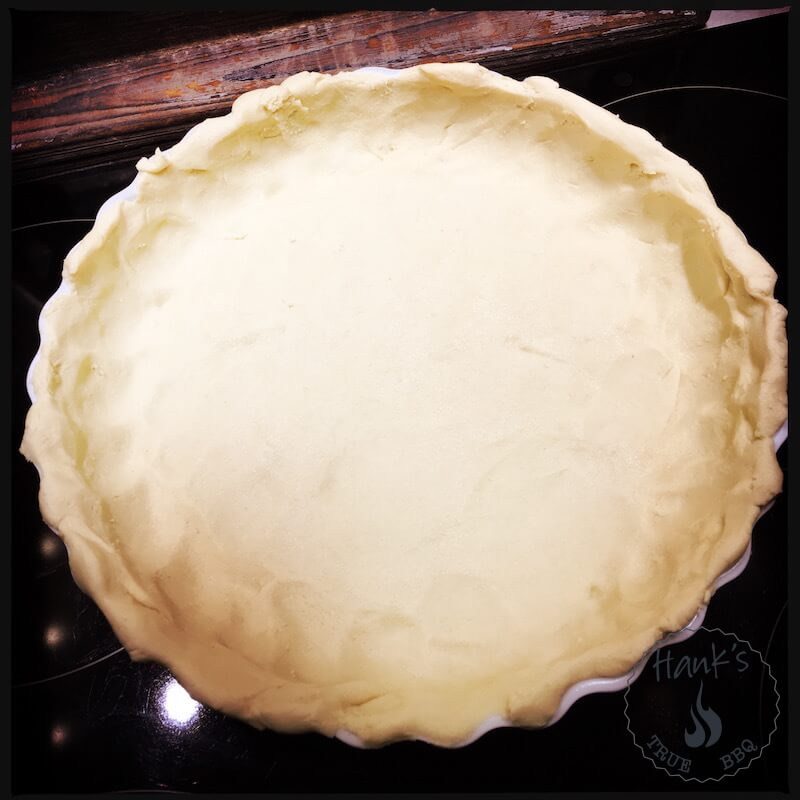 The pie, ready for the oven