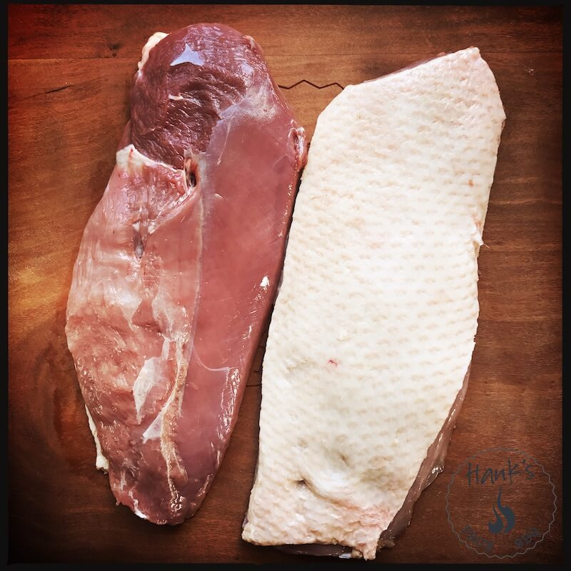 Raw duck breasts