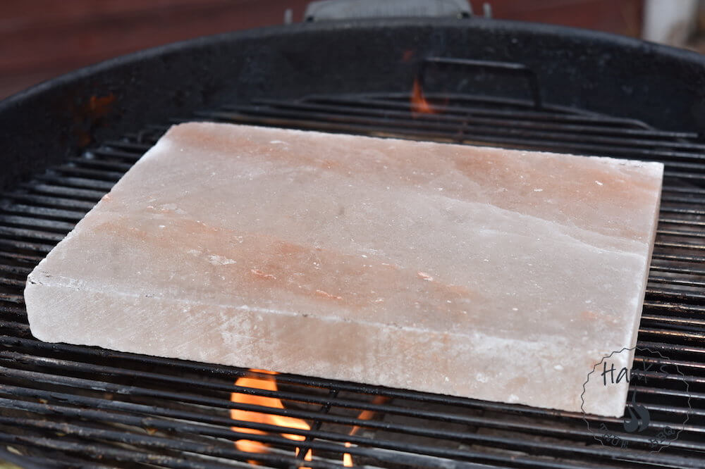 Salt block on the Grill