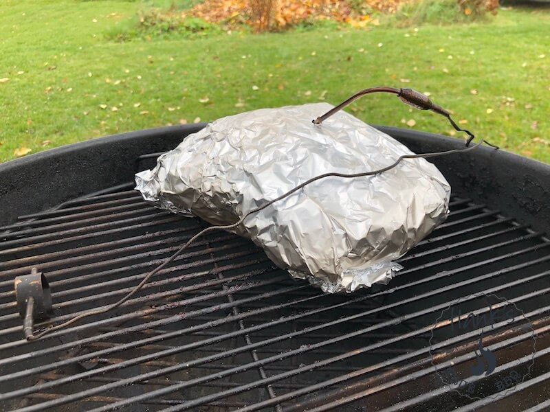 Chuck roast wrapped in foil