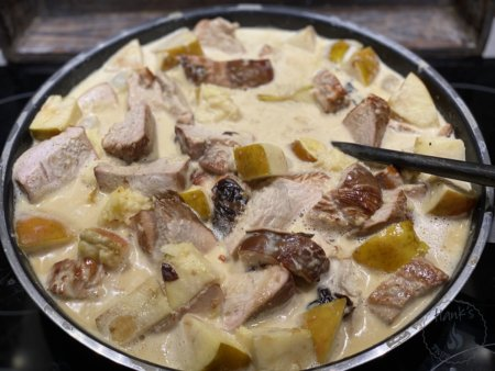 Smoked Turkey Breast Cognac Casserole