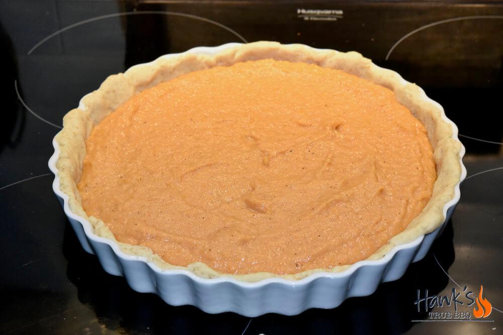 Sweet potatoe pie - before baking