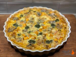 Blue cheese and sweet potato pie
