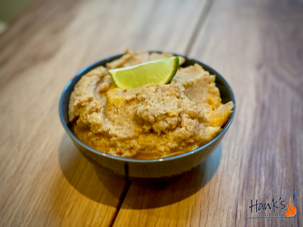 Satay sauce as marinade, i.e. the thicker version