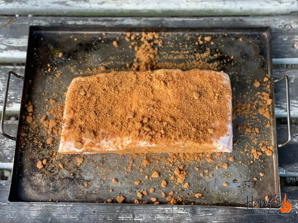 Iberico pork belly with gingerbread rub