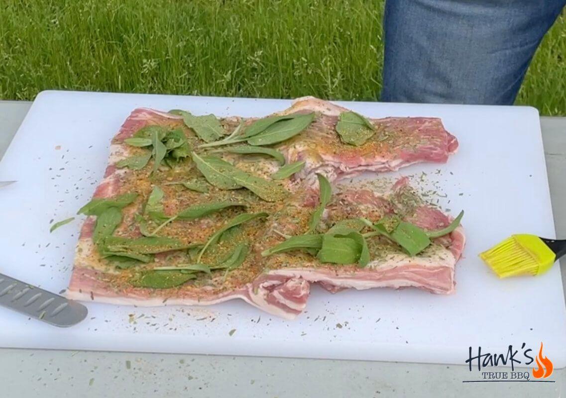 Porchetta with herbs